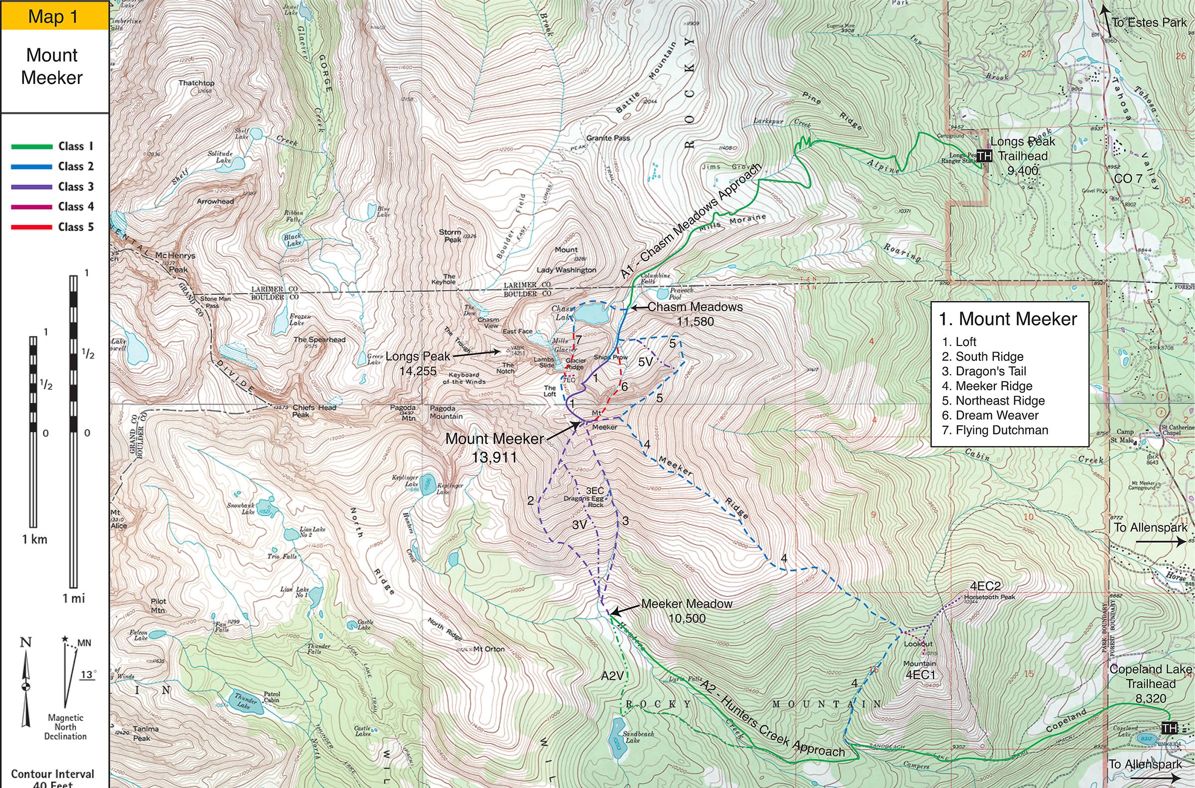 Mount Meeker Map