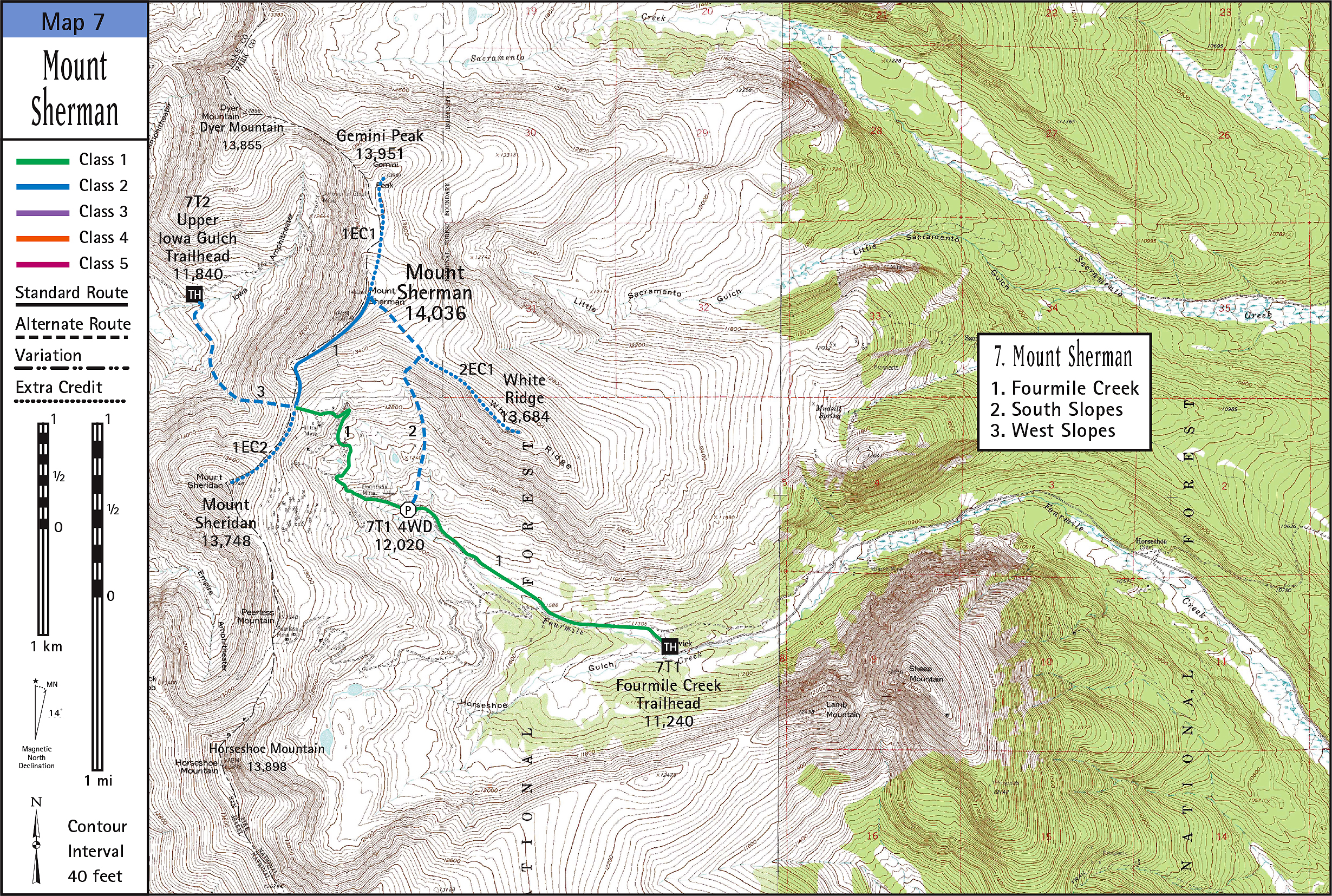 Mount Sherman Map