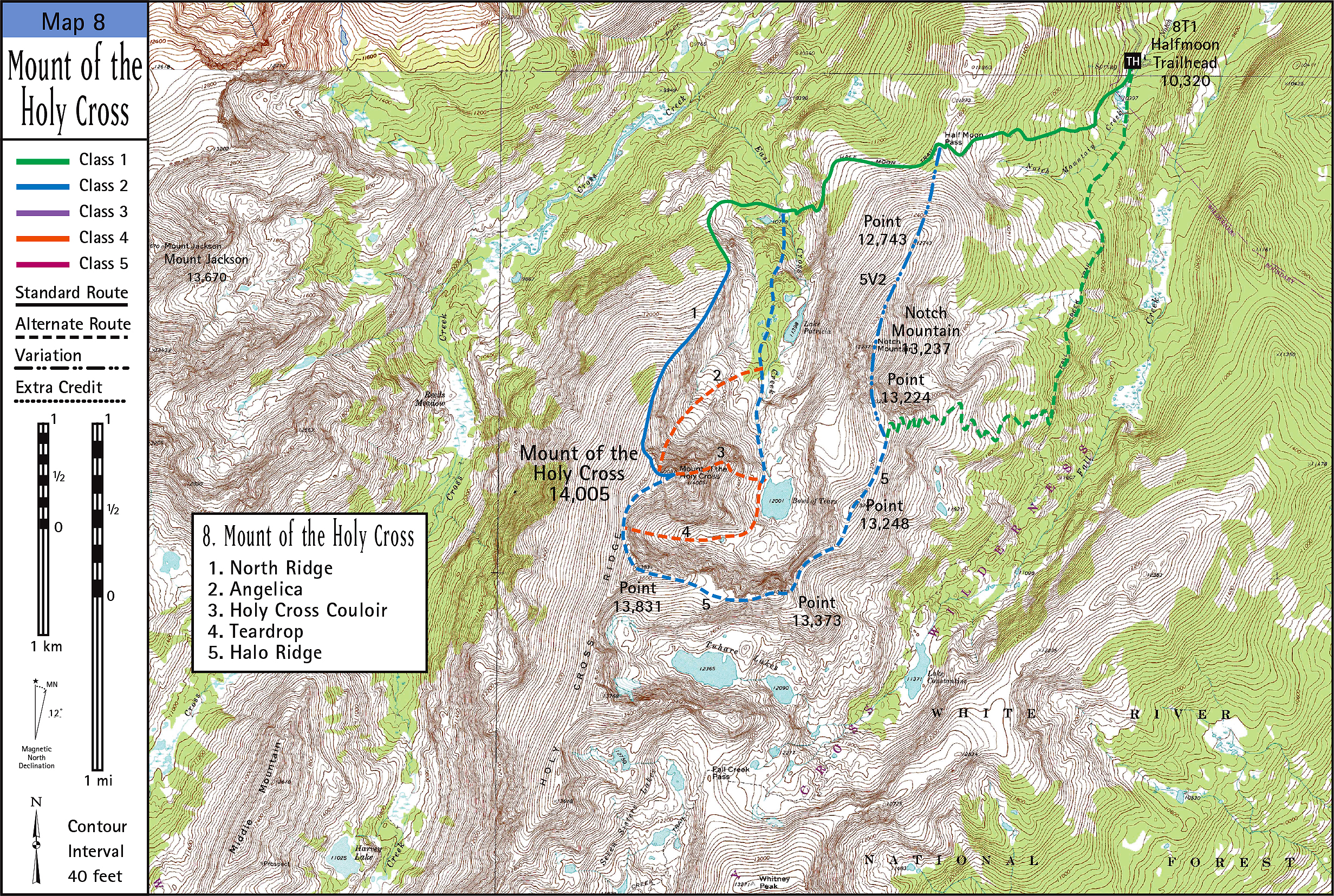 Mount of the Holy Cross Map