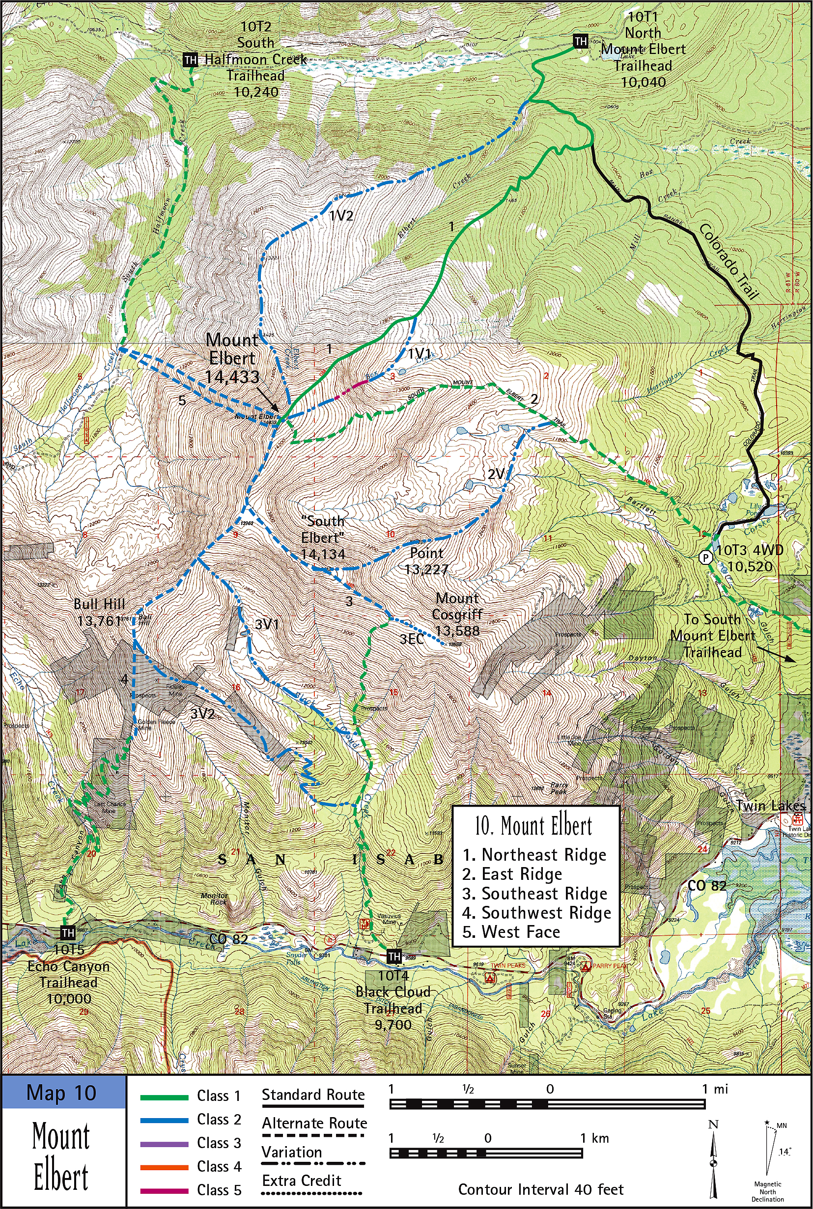 Mount Elbert Map