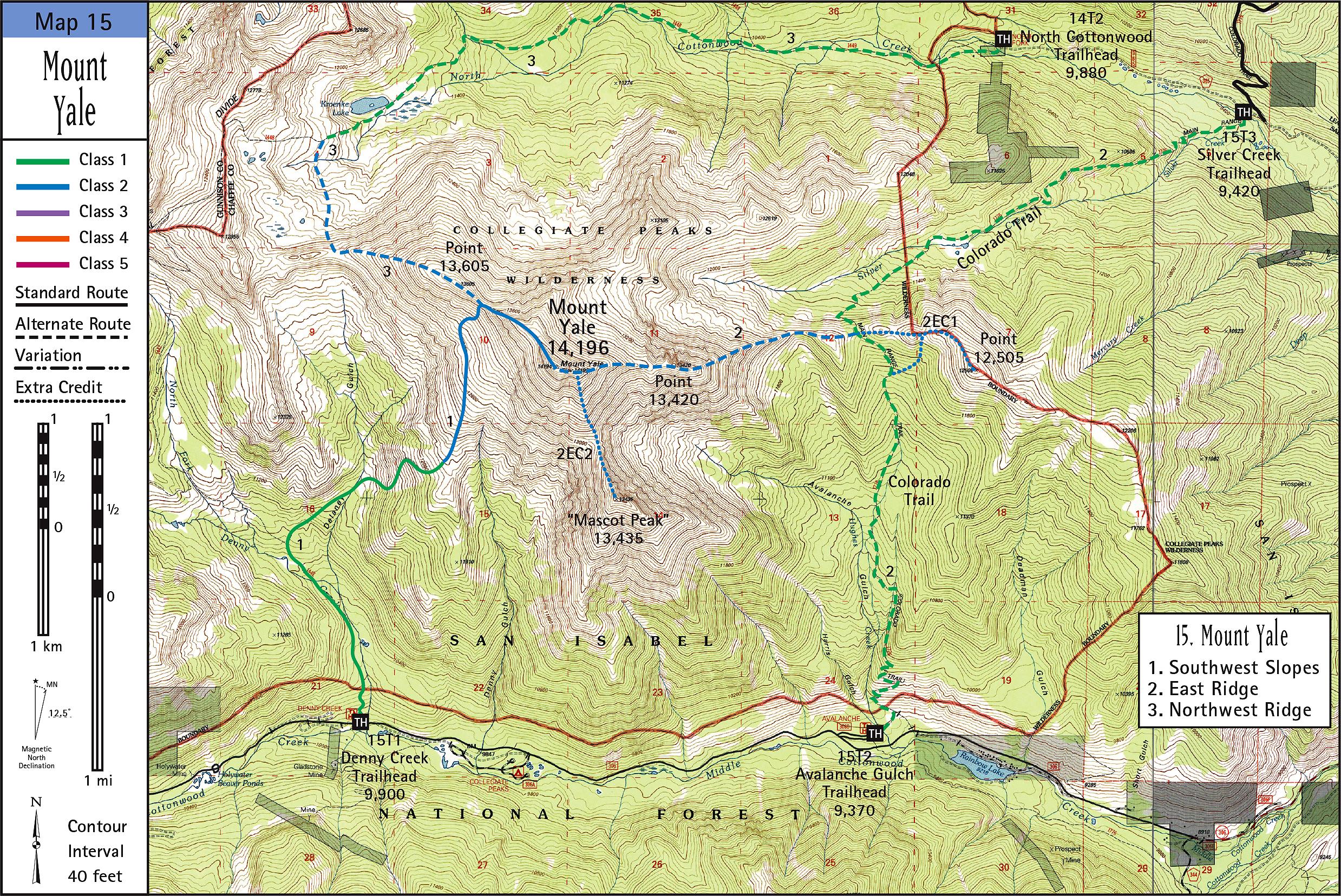 Mount Yale Map