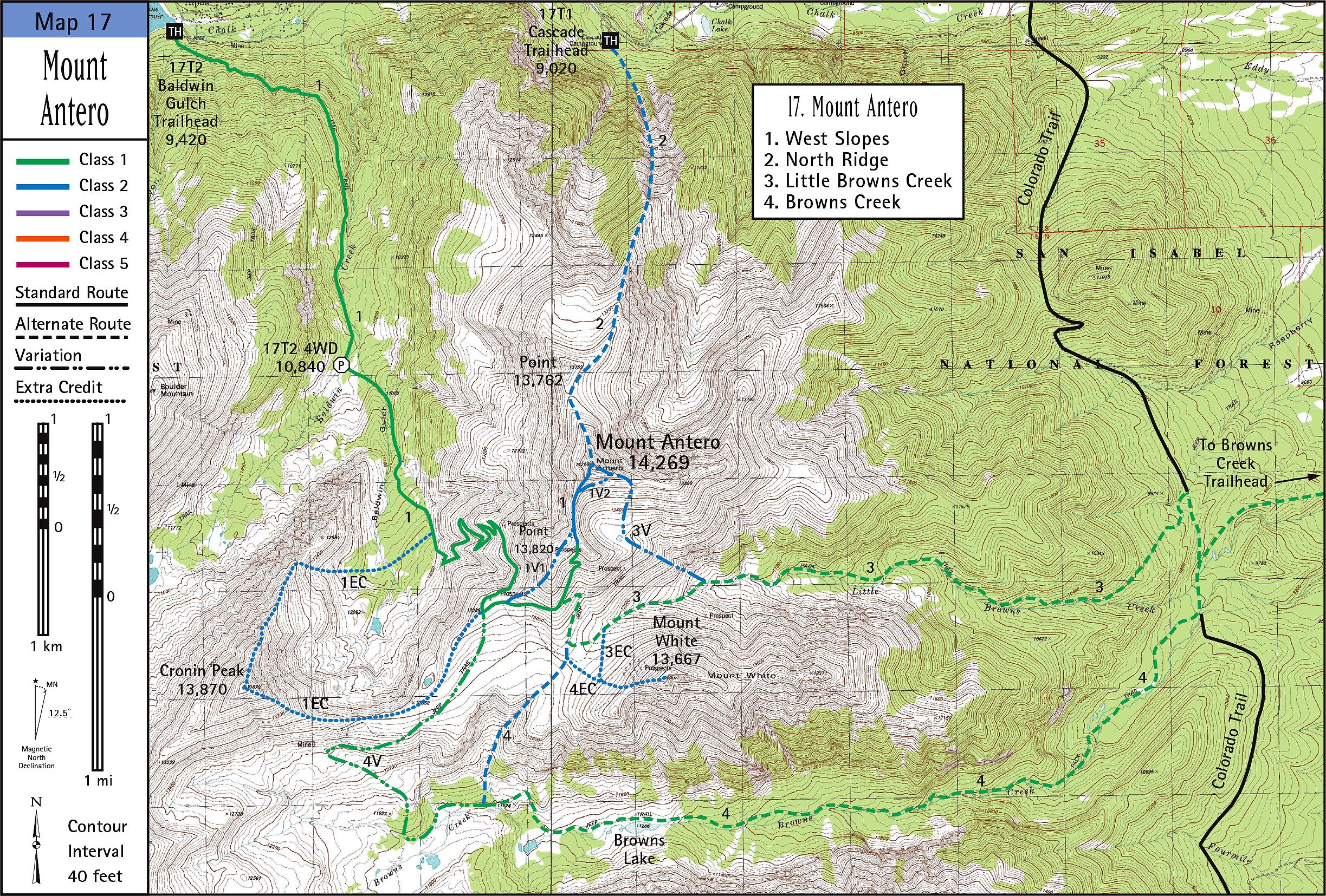 Mount Antero Map